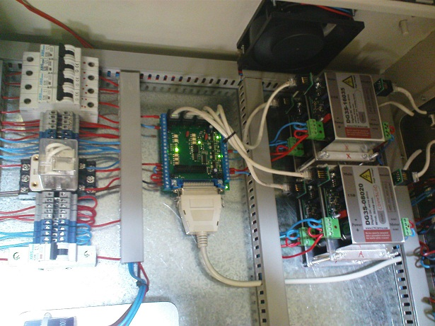 inside control box